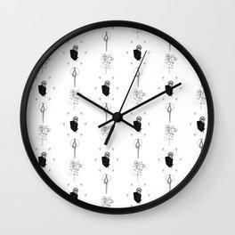 Fanciful Garden - Stripes Wall Clock