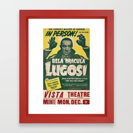 Dracula, Bela Lugosi, vintage poster Framed Art Print