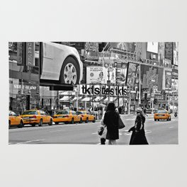 NYC Yellow Cabs Times Square - USA Rug