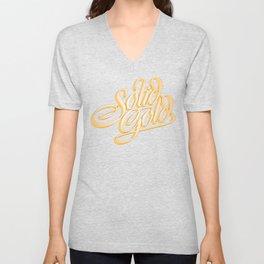 Solid Gold Unisex V-Neck