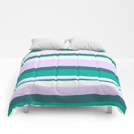 Hermosa, sunset stripes Comforters