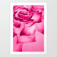 Watercolour Rose Art Print