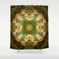 fractal Shower Curtains featuring Fractal by Rocio Sol