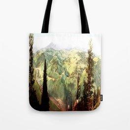 Vintage mountains Tote Bag