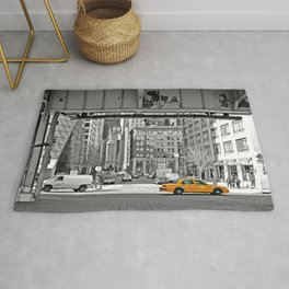 NYC - Yellow Cabs - Fish Market Rug