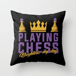 Chess, Chess King, Chess Queen Throw Pillow
