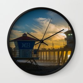 Towers in the Sun Wall Clock