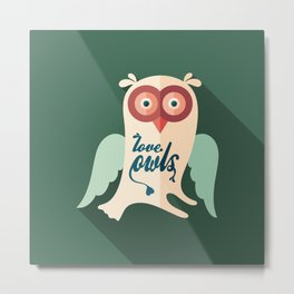 Love Owls Metal Print