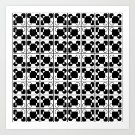 BW-pattern 2 Art Print