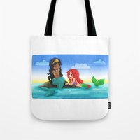 ouat Tote Bags featuring OUAT - Mermaids by Choco-Minto