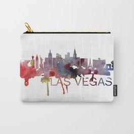 Las Vegas Skyline Watercolor Art Print Carry-All Pouch