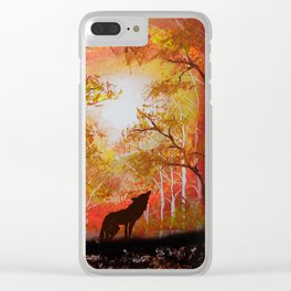 Howling Into The Woods Clear iPhone Case