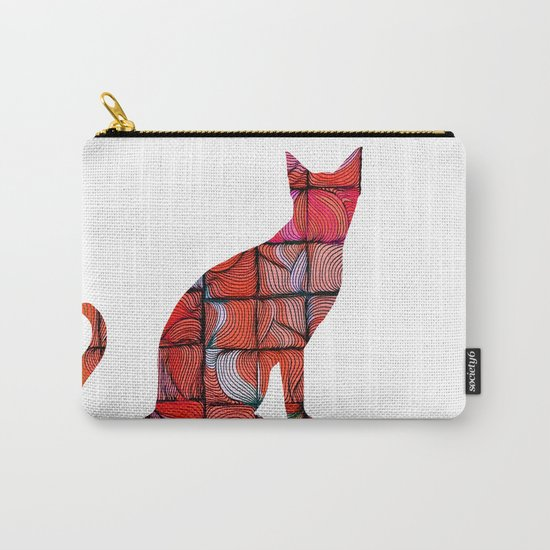 Quilted Cat Carry-All Pouch
