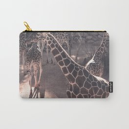 Giraffe Strut // Spotted Long Neck Graceful Creatures in Wildlife Preserve Carry-All Pouch