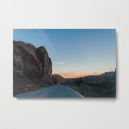 Sunset in the Canyon Metal Print