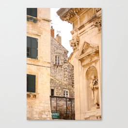 Terrace in Old Town Europe #decor #society6 Canvas Print