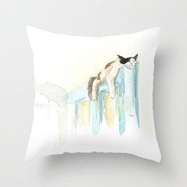 Sleep Like A Cat Throw Pillow