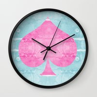 ace Wall Clocks featuring Ace by Espenbke