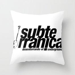Subterránica Throw Pillow