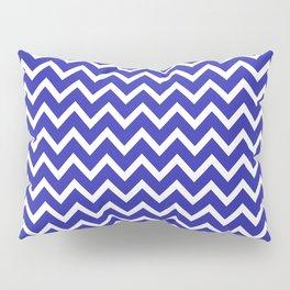 Zigzag (Navy & White Pattern) Pillow Sham