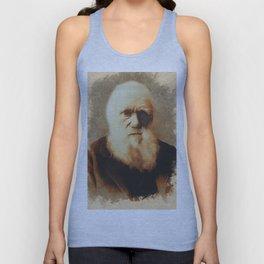 Charles Darwin, Scientist Unisex Tank Top