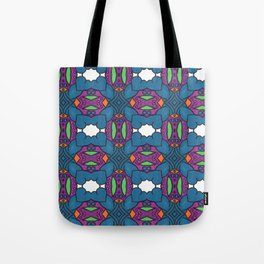 Blue Butterfly Wings Tote Bag