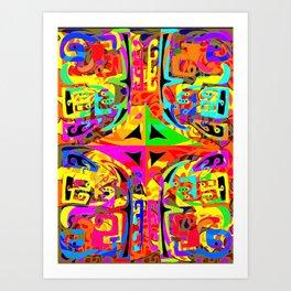 Caos and order, in vivid collors Art Print