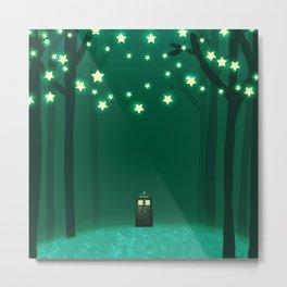 Tardis Art Green Shine Metal Print