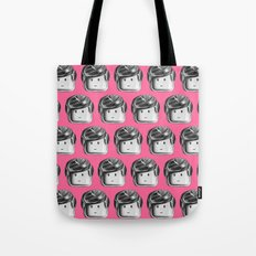 Minifigure Pattern - Pink Tote Bag