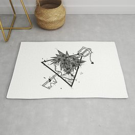Sora Handmade Drawing, Made in pencil and ink, Tattoo Sketch, Videogames Art Rug