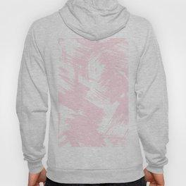 Blush pink white modern watercolor brushstrokes Hoody