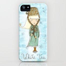 White Tea Girl iPhone Case