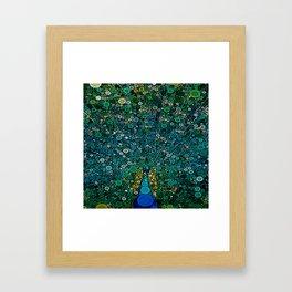 :: Peacock Caper :: Framed Art Print
