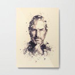 Steve Jobs splatter painting Metal Print