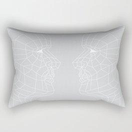 Selfie Gray Rectangular Pillow