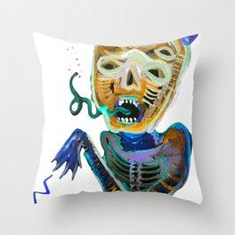 demoniooOOoOOoOooo #2 Throw Pillow