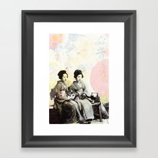 Bench Float Framed Art Print
