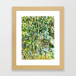 Natural bamboo trees Framed Art Print