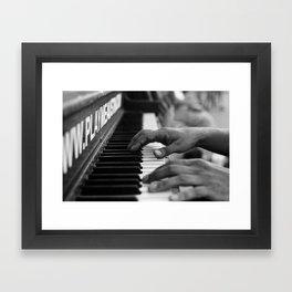 Confident Fingers Framed Art Print