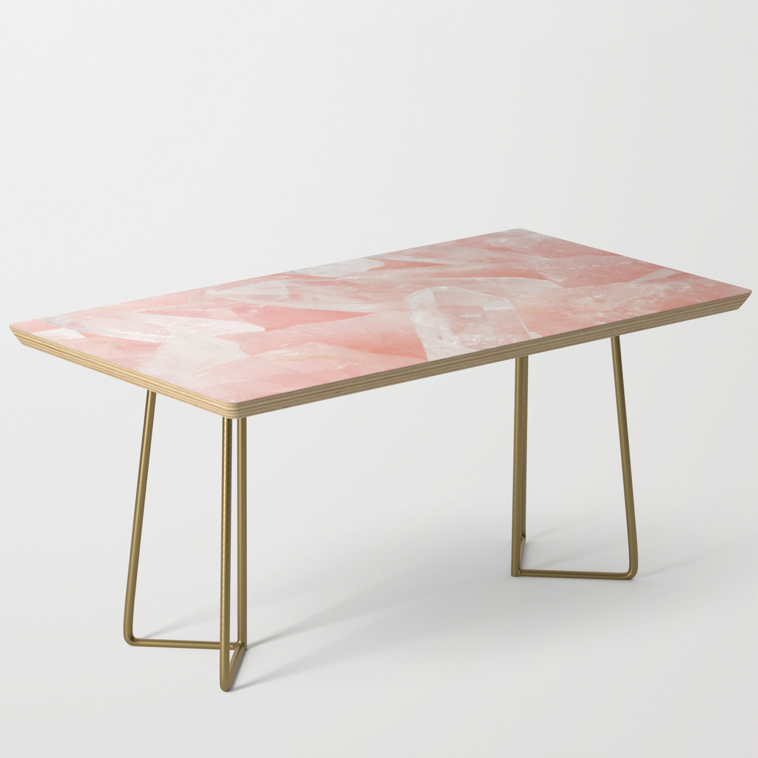 Light Pink Rose Quartz Crystals Coffee Table By Newburydesigns Society6