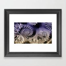 Metallic coils Framed Art Print