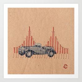 Golden Drive Art Print