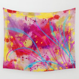 Wild sprouts in CMYK Wall Tapestry
