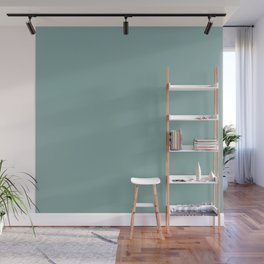 Solid Colors Series - Desaturated Light Cyan Wall Mural