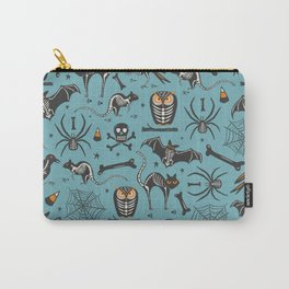 Halloween X-Ray Blue Carry-All Pouch