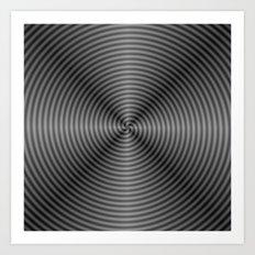 Spiral Quartered in Monochrome Art Print