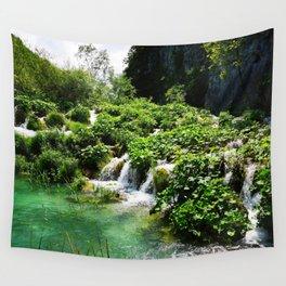 cascades at plitvice lakes national park croatia std Wall Tapestry