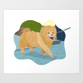 Chow Chow Dog Art Illustration Art Print