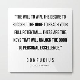 23  | Confucius Quotes | 200202 Metal Print