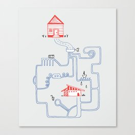 All Roads Lead to Your House Canvas Print